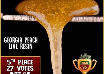 Georgia Peach Live Resin, High 95 Photo Cup Entrant